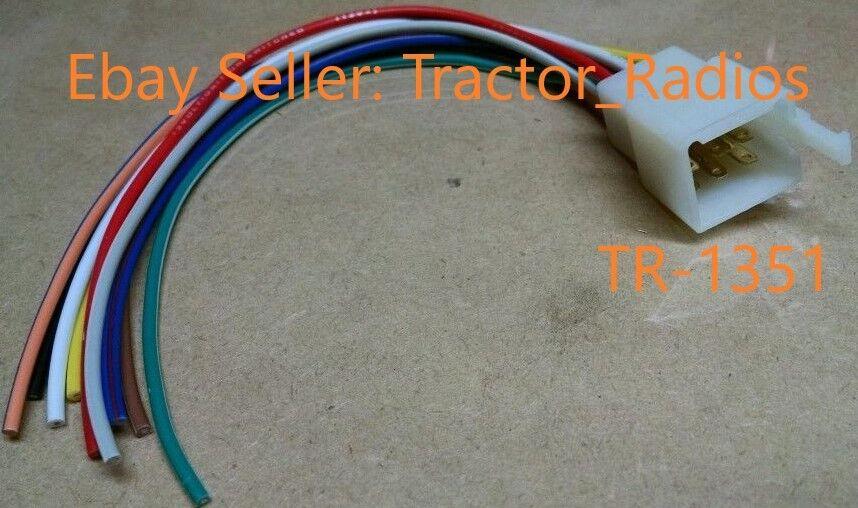kubota tractor radio wire harness male rtv 9 pin rtv-1100 tractorradios com  patio, lawn & garden