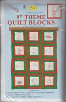 1 Jack Dempsey ornaments Stamped Embroidery Quilt Blocks