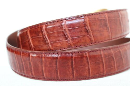 UnJointed Red Brown Genuine Crocodile Belt Skin Leather Men/'s W 1.3 inch