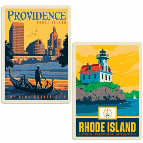 Providence Rhode Island Renaissance City Sticker Set of 2 Decals