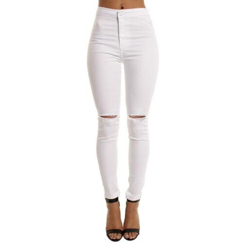 High Waist Damen Jeans Stretch Hose Röhre Damenjeans Röhrenjeans S-2XL