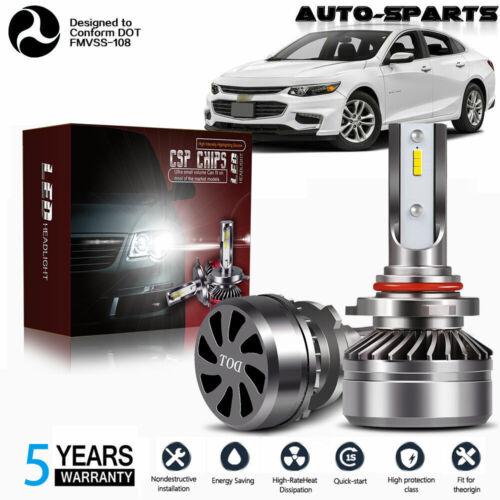 LED Headlight Kit 9005 6000K Clear Bulbs High//Lo Beam for Chevy Malibu 2016-2018