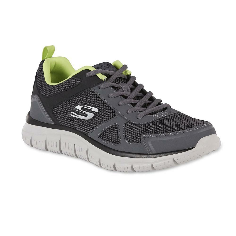Mens Skechers Track 8-13M Gray Athletic Shoe Memory Fit Air-Cooled Low-ankle Brand discount