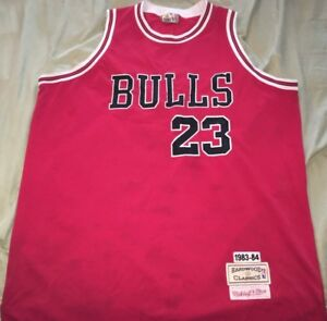 huge selection of 6f9f3 c138b Details about Michael Jordan Chicago Bulls #23 Hardwood Classic Mitchell &  Ness Jersey 1983-84