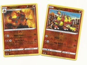 Mint//NM Reverse Holo Rare Magmar Magmortar SS Rebel Clash Pokemon TCG