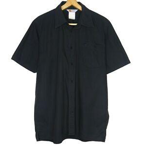 Carhartt-Long-Sleeve-Button-Up-Mens-Black-Shirt-Size-Large