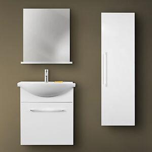 Mobile bagno con lavabo in ceramica colonna e specchiera color ...