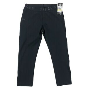 Under Armour Women's UA Favourite Mesh Crop Leggings 1329317 Size M NWT