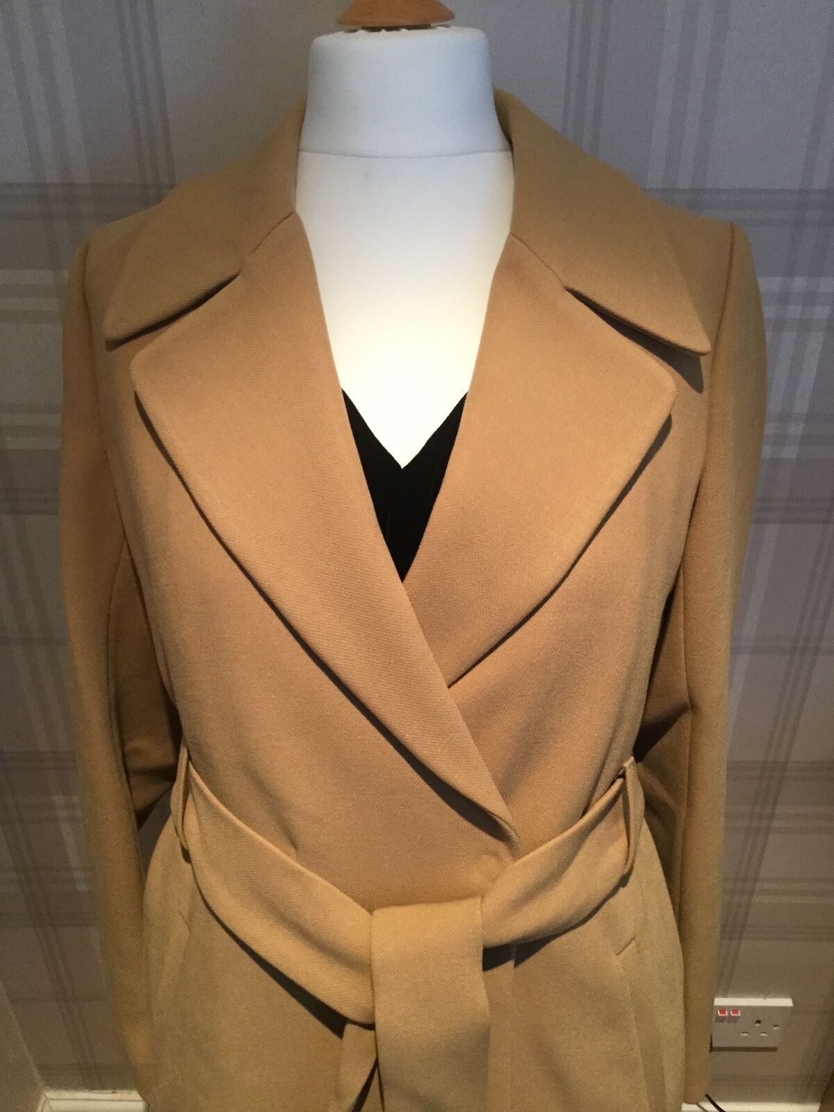 NEW LANDS END Camel Wrap Trench Coat UK14 RRP