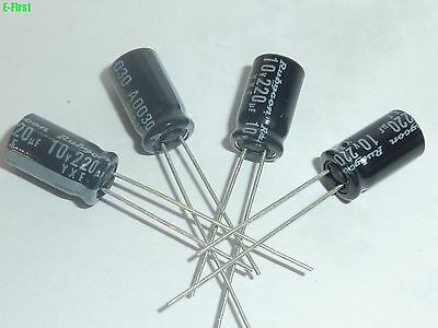 10pcs 220uF 10V Rubycon YXF 6.3x11mm Low Impedance Long Life Capacitor