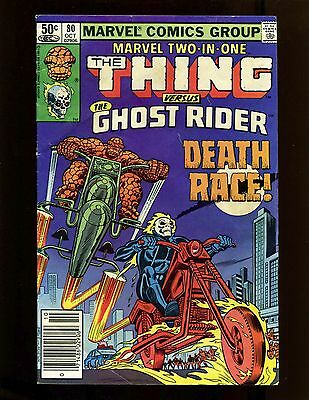 Marvel Two-In-One #80 (Newsstand) VG+ Wilson Stone Thing Ghost Rider Death Race