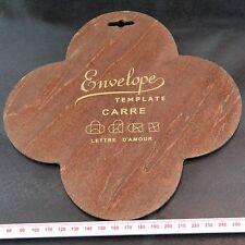 Carre Love Letter (Lettre D'Amour) Envelope Wooden Template