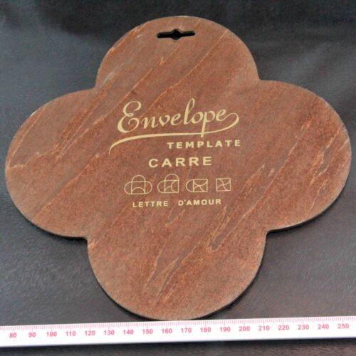 Carre Love Letter Envelope Wooden Template Lettre D/'Amour