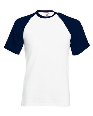 Fruit of the Loom Short Sleeve Baseball Cotton Crew Neck t-shirt - Men's Tops