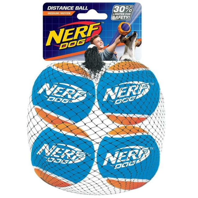 Nerf Dog VP6871 Tennis Ball Blaster Distance Balls & Solo Play Sessions Single
