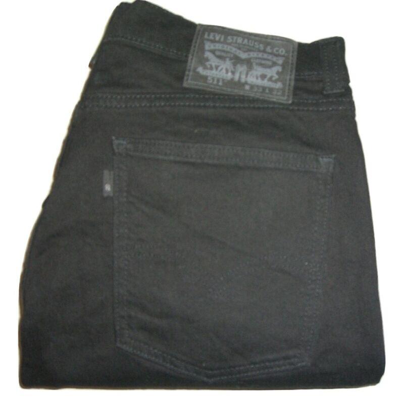 Herren Levi's 511 Line 8 Schmale Passform Schwarz (0085) Stretch Jeans W33 L32