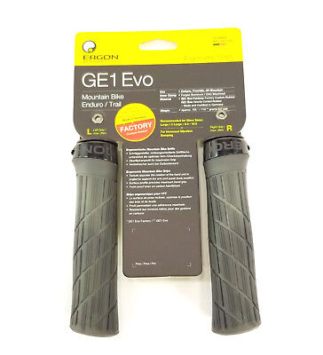PAIR NEW ERGON GE1 EVO SLIM Factory ERGO lock Bike GRIPS Frozen Stealth Bicycle