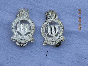 Northumberland-Hussars-Collar-Badges-Anodised-Aluminium-Staybright-Pins