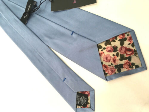 """Paul Smith Baby Blue Silk Tie /""""MAINLINE/"""" Classic Blade 100/% Silk Made in ITALY"""