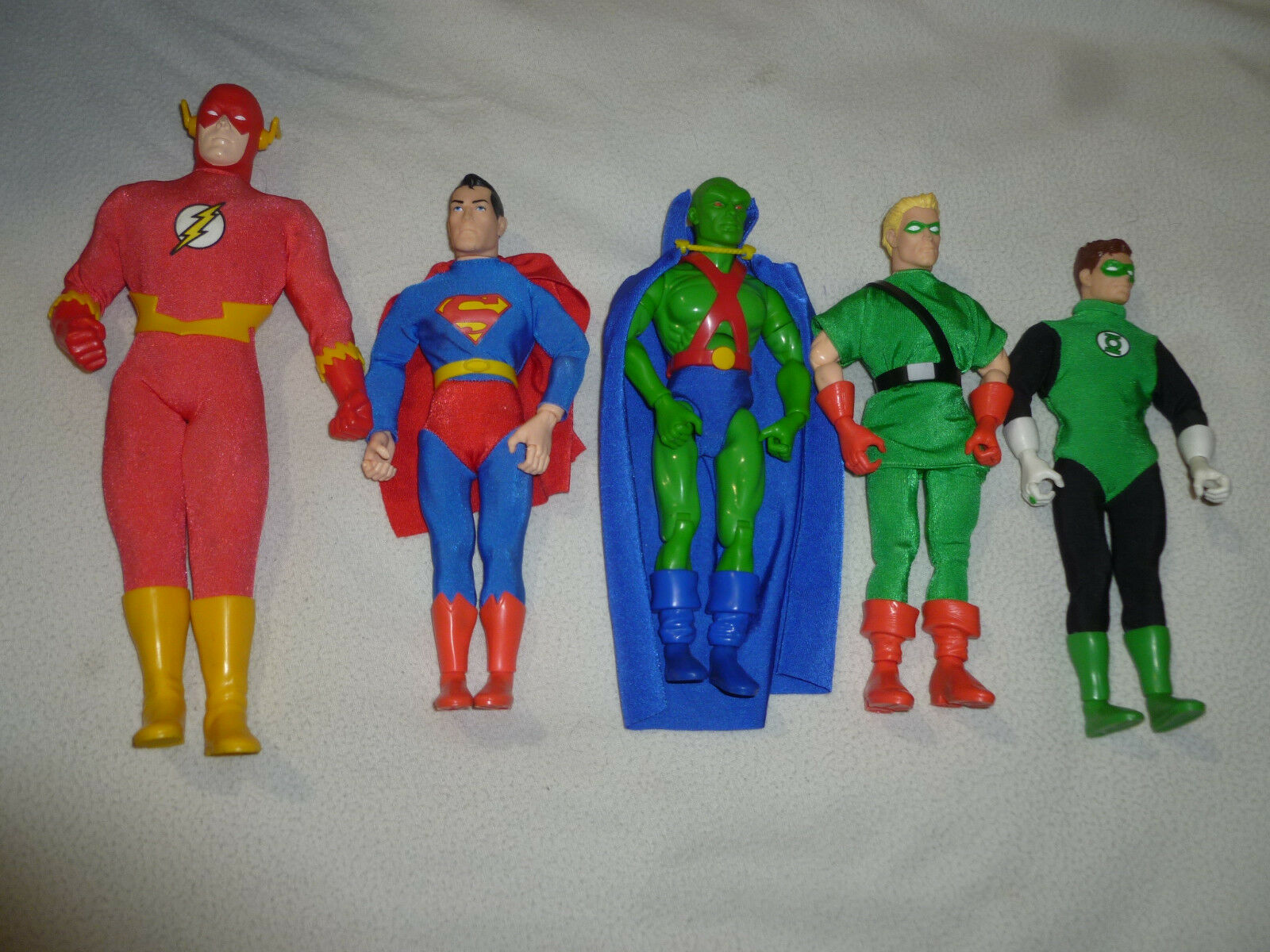 DC COMICS SUPER HEROES Liga De La Justicia De América Figure Lote Linterna verde Marciano Super Man
