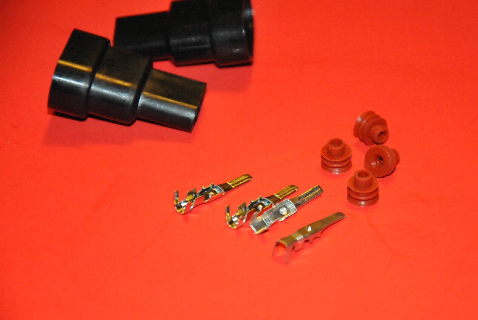PAIR 9006 HB4 9005 Male connector HID Xenon Plug Sockets Waterproof adaptor 9145