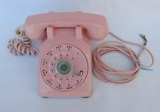 Bell Western Electric Pink Rotary Dial Desk Phone 1950s