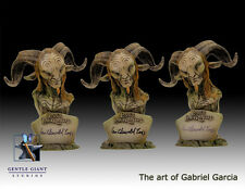 2008 GENTLE GIANT PAN'S LABYRINTH FAUN MINI-BUST SIGNED BY GUILLERMO DEL TORO