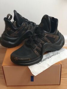 eed92f50749 Image is loading NIB-Louis-Vuitton-LV-Archlight-Sneaker-in-Black-