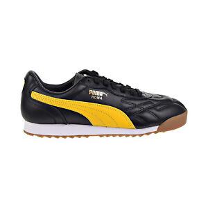 Details about Puma Roma Anniversario Mens Shoes Puma Black-Spectra Yellow  366673-04