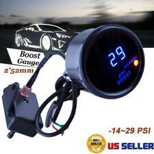 "Digital Turbo Boost Gauge Kit W/ Sensor for Auto Car 52mm 2"" LCD -14~29 PSI AEM"
