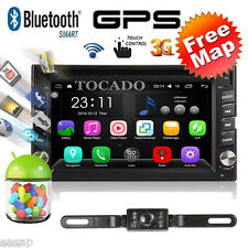 6.2''Android 6.0 Double 2Din Car 3D GPS DVD Player Wifi 3G Bluetooth In-Dash+CAM