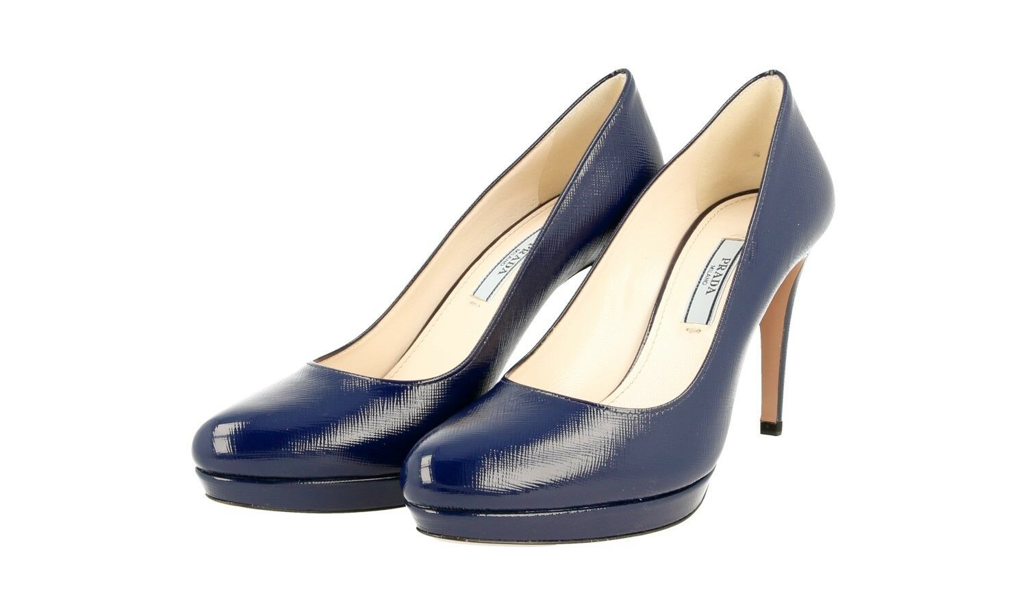 LUXUS PRADA SAFFIANO PUMPS SCHUHE 1IP079 ROYAL BLAU NEU NEU NEU NEW 40,5 41 UK 7.5 dd0e91