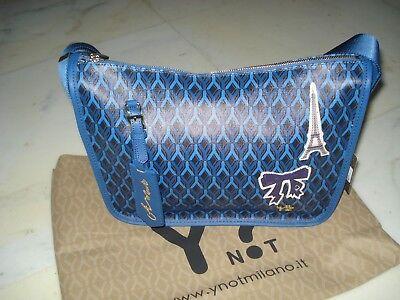 Bello Borsa Donna Y Not? Nuova. In Ecopelle, Modello Gummy Paris. Limited Edition