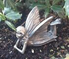 Garden Ornaments - Lying Fairy Antique Bronze effect Sculpture