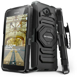 the latest ea421 831a1 Details about Microsoft Lumia 650 Case, Evocel Rugged Holster w/ Kickstand  & Belt Swivel Clip