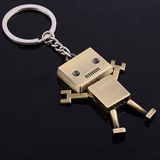 Hot Sales Robot Key Chain Key Ring 3D Metal Key Rings Lovely Bronze Elegant