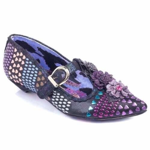 C T-Bar Flat Irregular Choice /'Love Scale/' Low Heel Heart Pattern Shoes