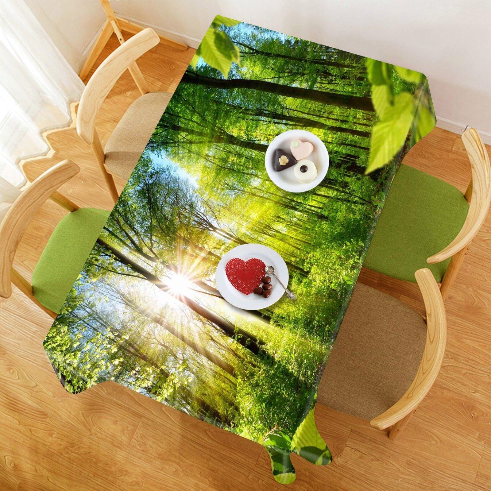 3D Sunlumière Trees 057 Tablecloth Table Cover Cloth Birthday Party Event AJ Lemon