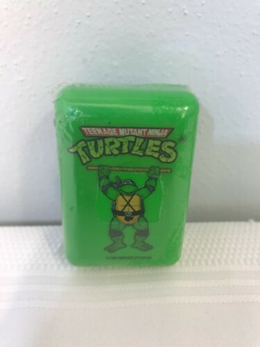Vtg NEW 1990 Teenage Mutant Ninja Turtles Mini Soap /& Traveling Case Donatello