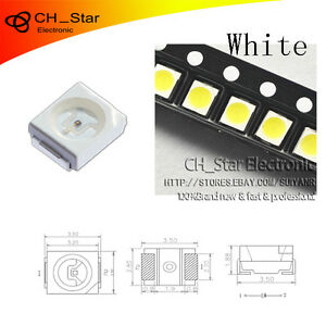 100PCS SMD SMT 2835 LED Diodes Yellow Light 0.8 thickness PLCC-2 High Quality