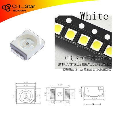 100pcs Smd Smt 1210 3528 Led White Light Emitting Diode Plcc 2 High Quality Chip Ebay
