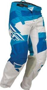 Fly Racing Kinetic Blocks YAMAHA Blue White PANT Motocross 5 SIZES! FREE SHIP!