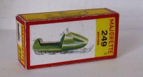 Repro Box Majorette Nr.249 Moto-Neige