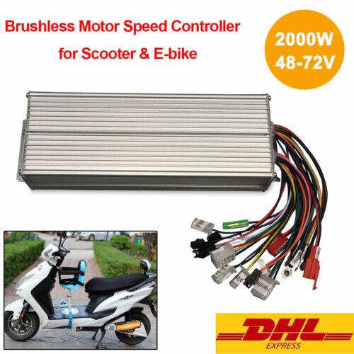 2000W Brushless DC Elektro Motor für Elektrofahrrad Bike Controller LCD 48-72V