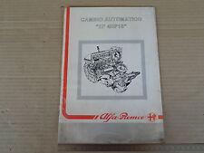 MANUALE ORIGINALE 1989 ALFA ROMEO 164 SPECIFICO CAMBIO AUTOMATICO ZF 4HP18 25PAG
