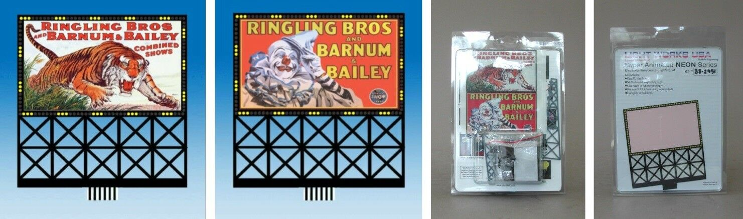 Ringling Brothers Circus  88-2951  Miller/'s Animated Neon Sign