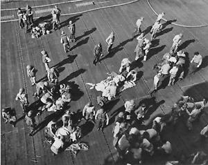 Details about US Navy WW2 Photo WWII Wounded on USS Intrepid Aircraft  Carrier World War Two