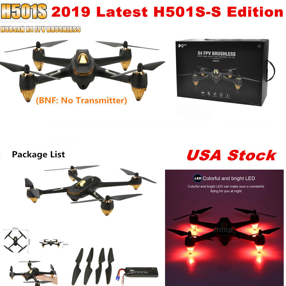 Hubsan X4 H501S S Cuadricóptero FPV 1080P 5.8G GPS sin escobillas, Drone sólo siga Me