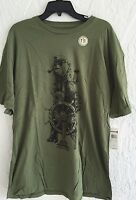 Men's Quiksilver T-Shirt SHIPMATES MT4 IN Army Green SLIM Fit New SZ XL