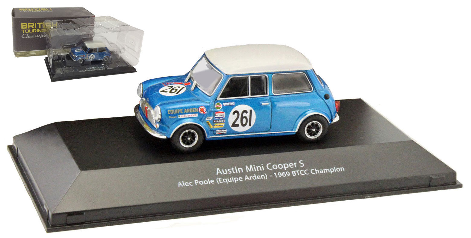ATLAS Austin Mini Cooper S 'EQUIPE Arden  Racing Champion 1969-Alec Poole